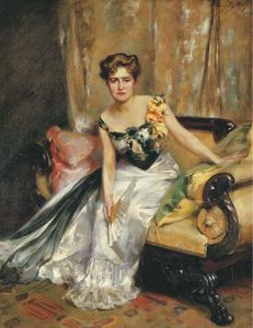Irving Ramsey Wiles - Portrait Of Mrs