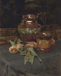 Irving Ramsey Wiles - Still Life With Lusterwar..