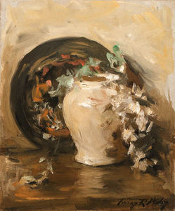 Irving Ramsey Wiles - Still Life With Vase And ..