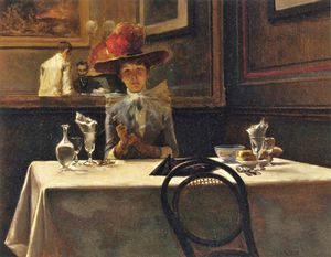 Irving Ramsey Wiles - The Corner Table