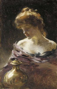 Irving Ramsey Wiles - Woman With A Brass Urn