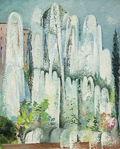Alice Bailly - Fountain In A Garden Of R..