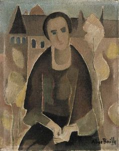 Alice Bailly - Seated Woman