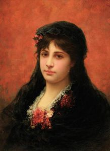 Emile Eisman Semenowsky - Ortrait Of A Spanish Woma..