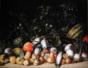 Gottfried Libalt - Still Life With Fruit And..