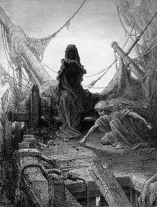 Gustave Doré - The -night-mare Life-in-death- Plays Dice With Death
