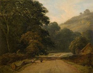 James Arthur O Connor - Landscape With Sheep