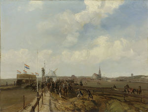 Charles Rochussen - The Race Track At Scheven..