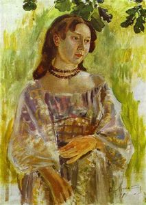Victor Borisov Mtov - Young Girl With A Necklac..