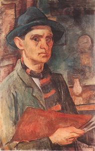 Janos Kmetty - Self-portrait