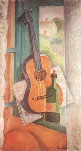 Janos Kmetty - Still-life With Guitar