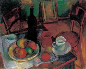 Janos Kmetty - Still-life With Table And..