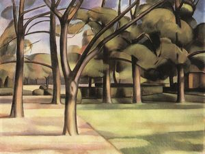 Janos Kmetty - Trees (view Of The City G..