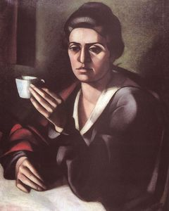 Janos Kmetty - Woman With A Cup