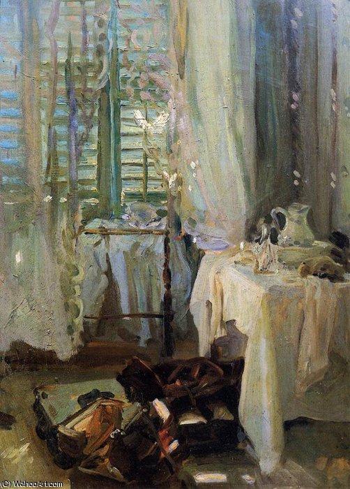 a hotel room by John Singer Sargent (1856-1925, Italy) | Museum Art Reproductions | ArtsDot.com