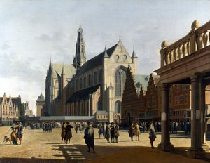 Gerrit Adriaenszoon Berck.. - The Market Place and the ..