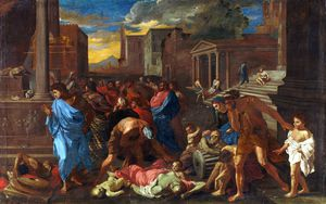 Angelo Caroselli - The Plague at Ashdod ( Po..