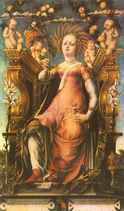 Michele Pannonio - Ceres enthroned