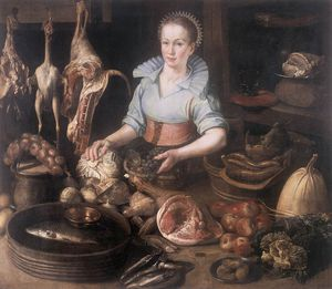 Dirck Van Rijswijck - The kitchen maid