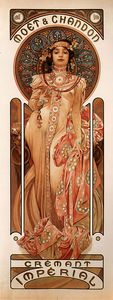 Alfons Maria Mucha - Moet and Chandon Cremant ..
