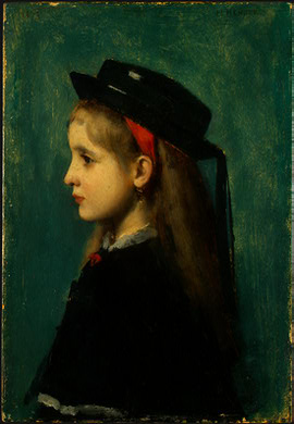 Alsatian girl by Jean Jacques Henner (1829-1905, France) | Reproductions Jean Jacques Henner | ArtsDot.com