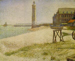 Georges Pierre Seurat - The Lighthouse at Honfleu..