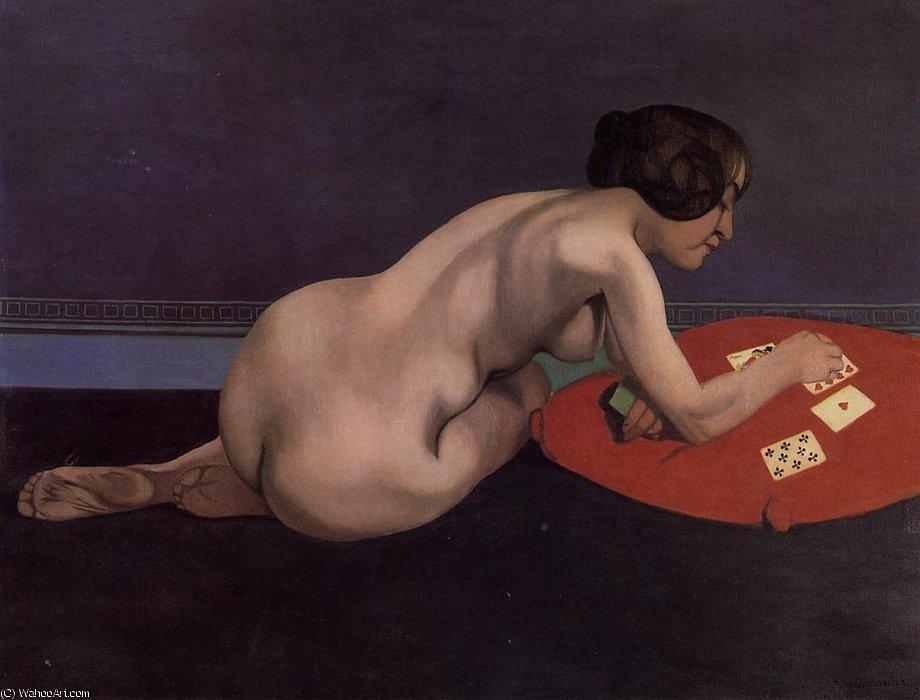 Carte da Gioco Nude (Solitaire) di Felix Vallotton (1865-1925, Switzerland)  | Riproduzioni Di Quadri Felix