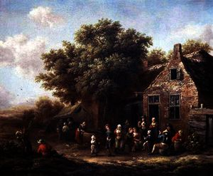 Barend Gael Or Gaal - Peasants Merry-Making out..