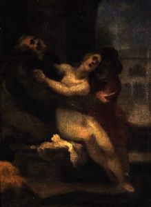 Cristofano Allori - Susanna being attacked by..