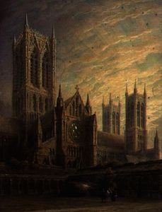 Frederick Mackenzie - Lincoln Cathedral from th..