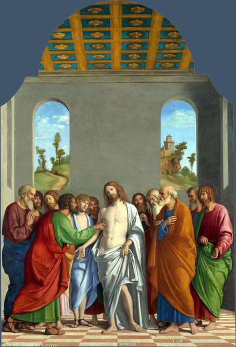 The Incredulity of Saint Thomas by Giovanni Battista Cima Da Conegliano (1459-1517) | Art Reproduction | ArtsDot.com