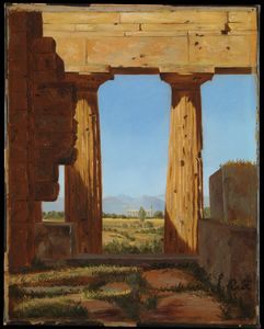Constantin Hansen - Columns of the Temple of ..