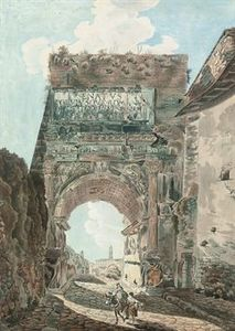 Abraham-Louis-Rodolphe Du.. - The arch of titus, rome