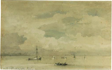 File:Reinier Nooms - Amsterdam - Shipping on the Ij