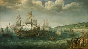 Adam Willaerts - Embarkation of the Electo..