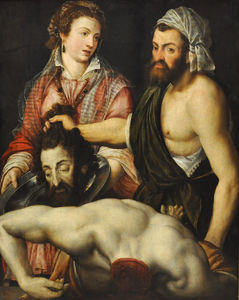 Adriaen Thomasz Key - Salome with the head of J..