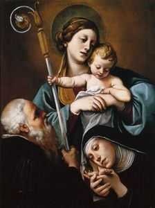 Alessandro Tiarini - Madonna and Child with St..
