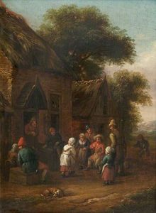 Barend Gael Or Gaal - Peasants before a Cottage