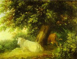Mikhail Lebedev - Landscape with Cows