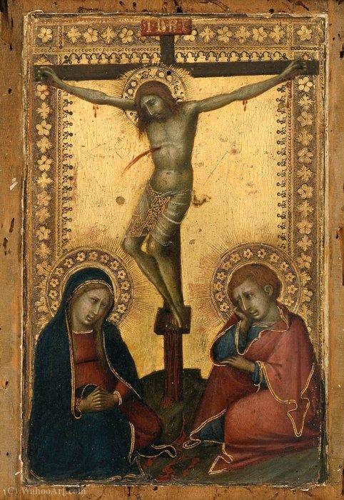 распятый христос с дева и святой иоанн богослов по Naddo Ceccarelli  (1320-1347)   Репродукции Картин