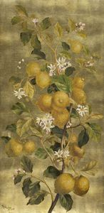 William Hughes - Lemons and Flowers