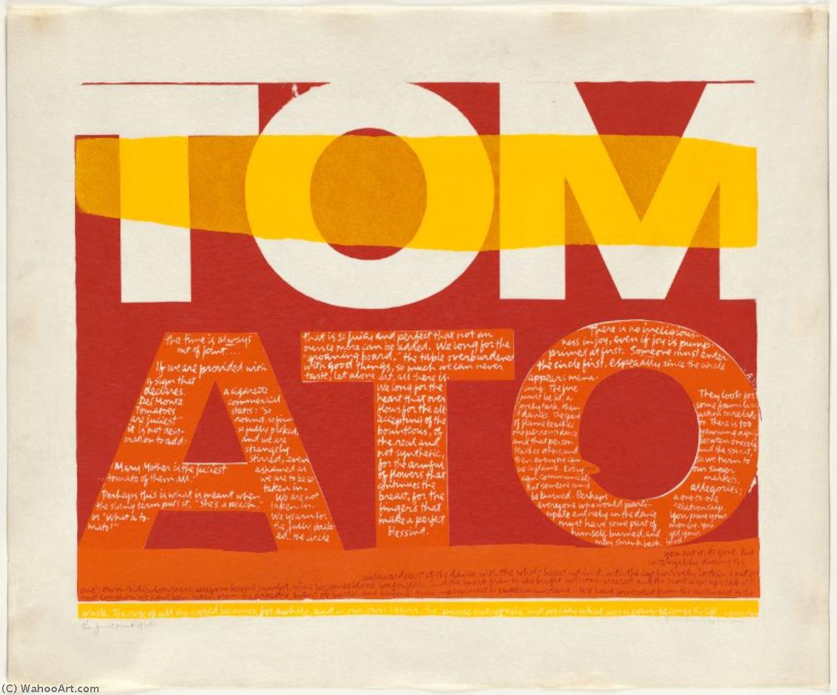 The juiciest tomato of all serigraph by Corita Kent (1918-1986, United States) | Museum Art Reproductions | ArtsDot.com