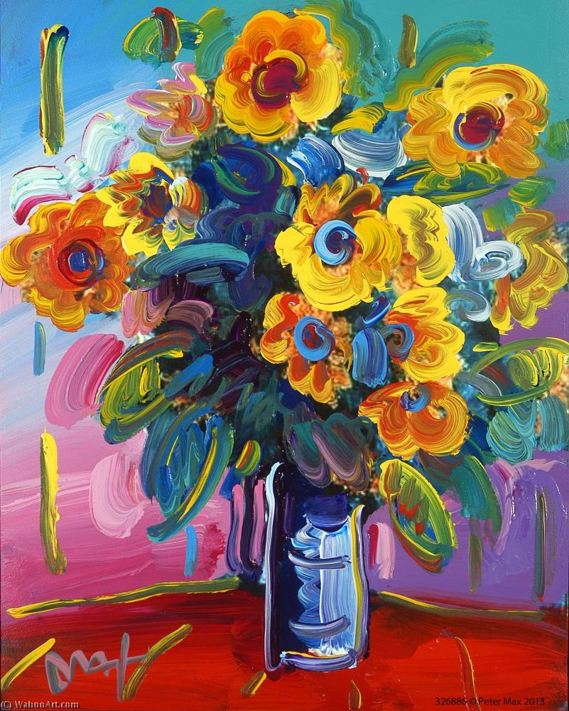 Flower by Peter Max (1937-2004, Germany) | Museum Quality Reproductions | ArtsDot.com