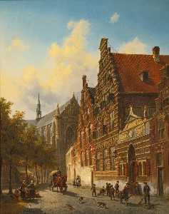 Jacques François Carabain - The Weeshuis in Leiden