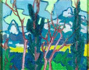 Jessica Dismorr - Landscape with Trees