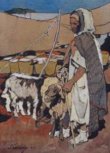 Léon Cauvy - Herdsman of the Atlas Mou..