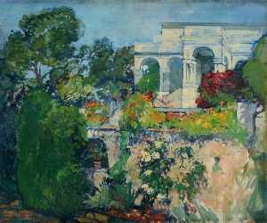 Léon Cauvy - The Gardens of the Villa ..