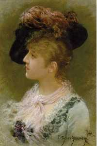 Emile Eisman Semenowsky - The Feathered Hat