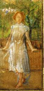 Giovanni Sottocornola - Girl in a White Dress