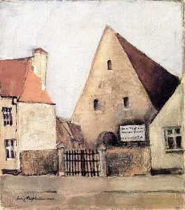 Felix Nussbaum - The Hakenhof in Kommender..
